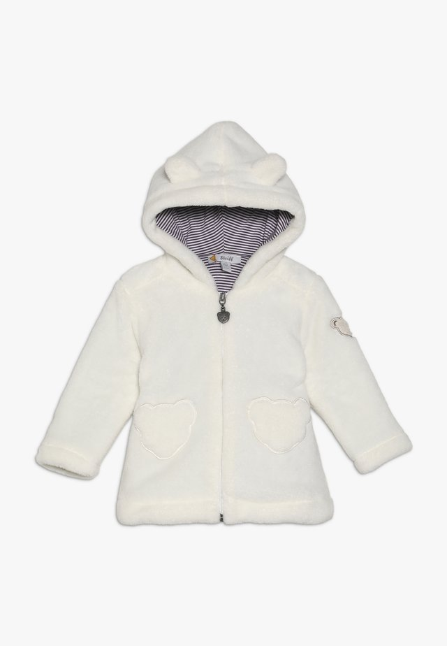 FLUFFY HOODY BABY - Fleecejacke - cream