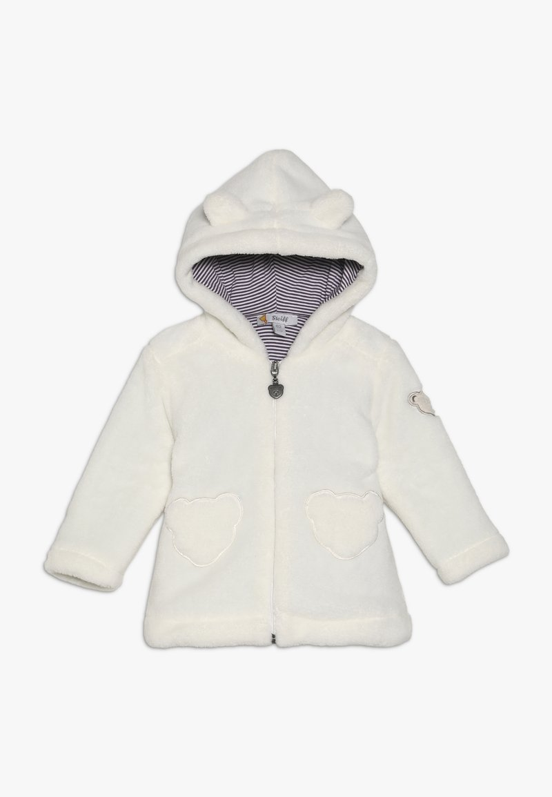Steiff Collection - FLUFFY HOODY BABY - Fleecejakker - cream