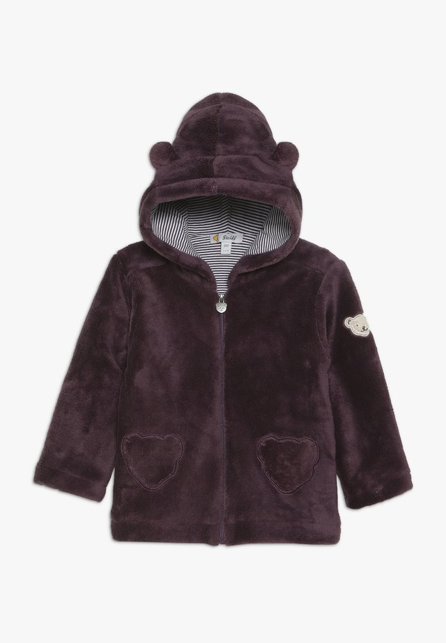 FLUFFY HOODY BABY - Giacca in pile - wildberry