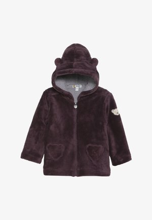 FLUFFY HOODY BABY - Fleecejacke - wildberry