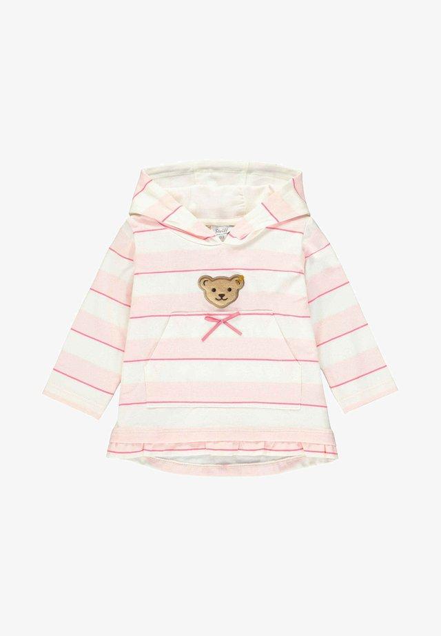 MIT STREIFEN UND TEDDYBÄRMOTIV - Sweater - barely pink