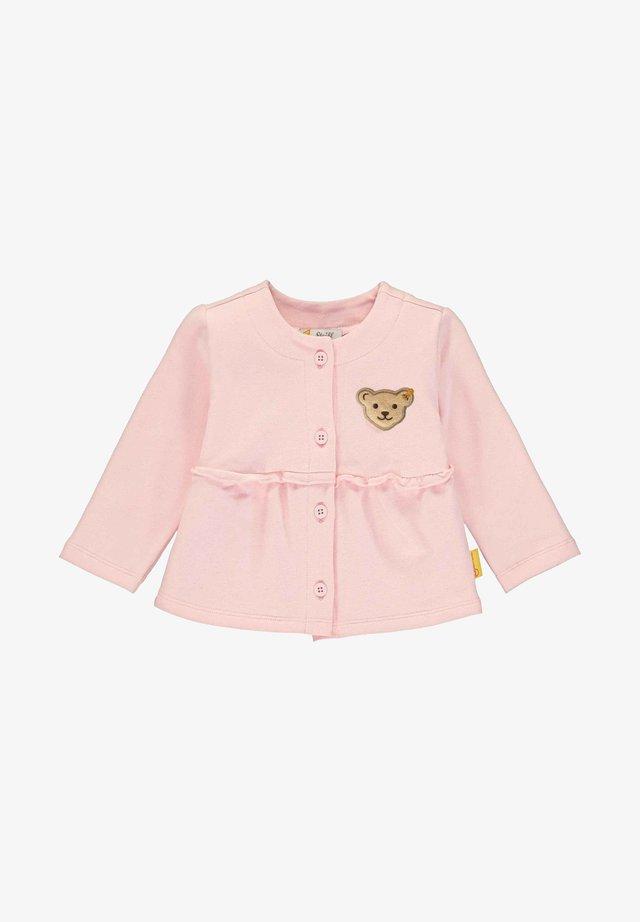 STEIFF COLLECTION SWEATJACKE MIT RÜSCHENVERZIERUNG - Cardigan - barely pink