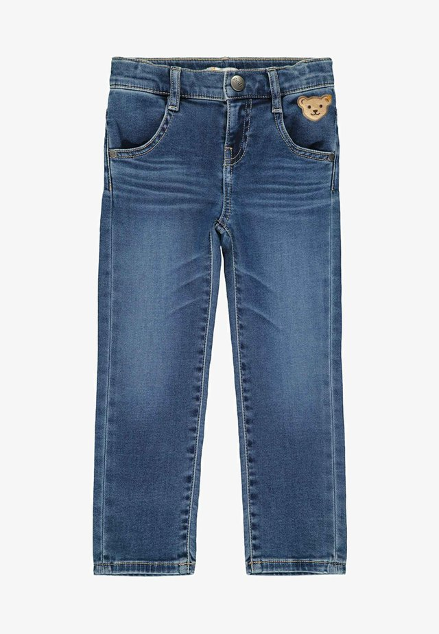 MIT STREIFEN UND TEDDYBÄRPRINT - Straight leg jeans - ensign blue