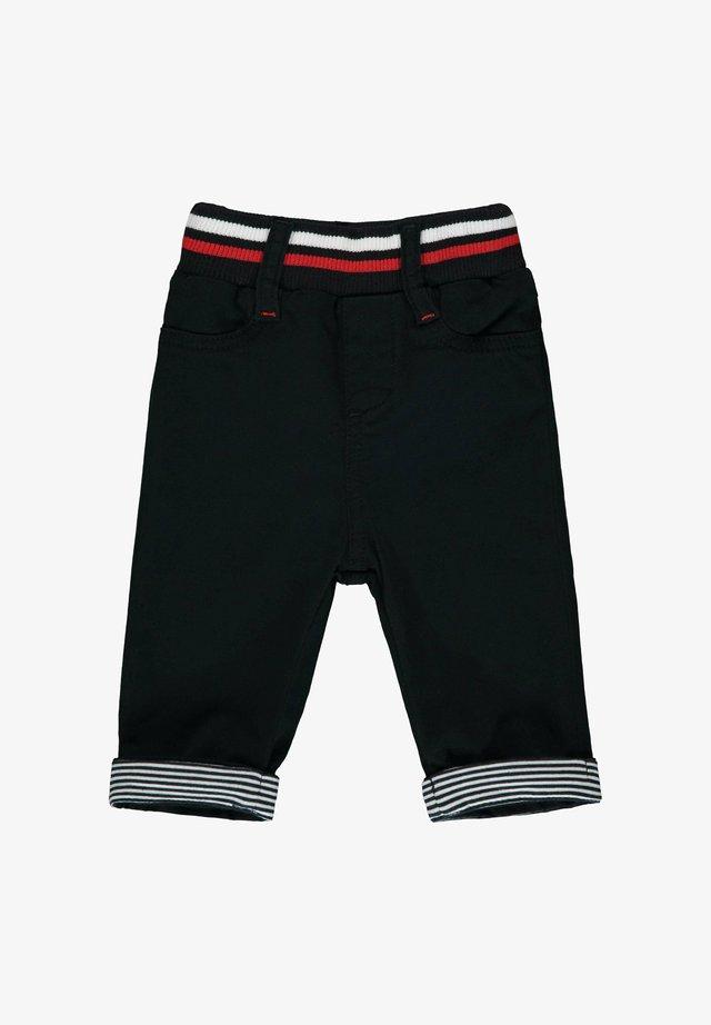 STEIFF COLLECTION HOSE MIT GUMMIZUGBUND - Straight leg jeans - black iris