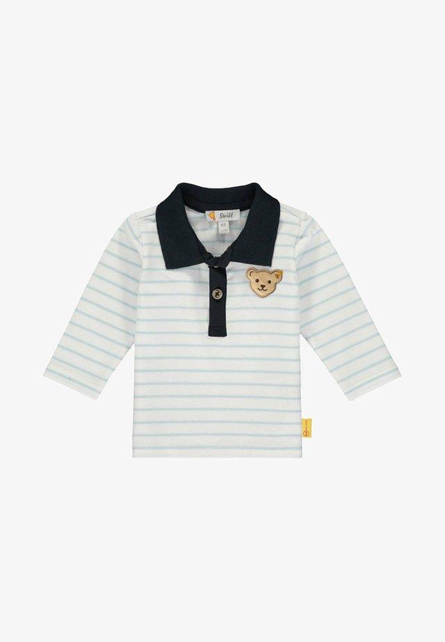 MIT STREIFEN UND TEDDYBÄRMOT - Polo shirt - winter sky