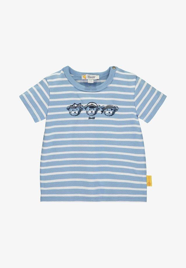 MIT TEDDYBÄRCREW-PRINT - T-shirt print - blue
