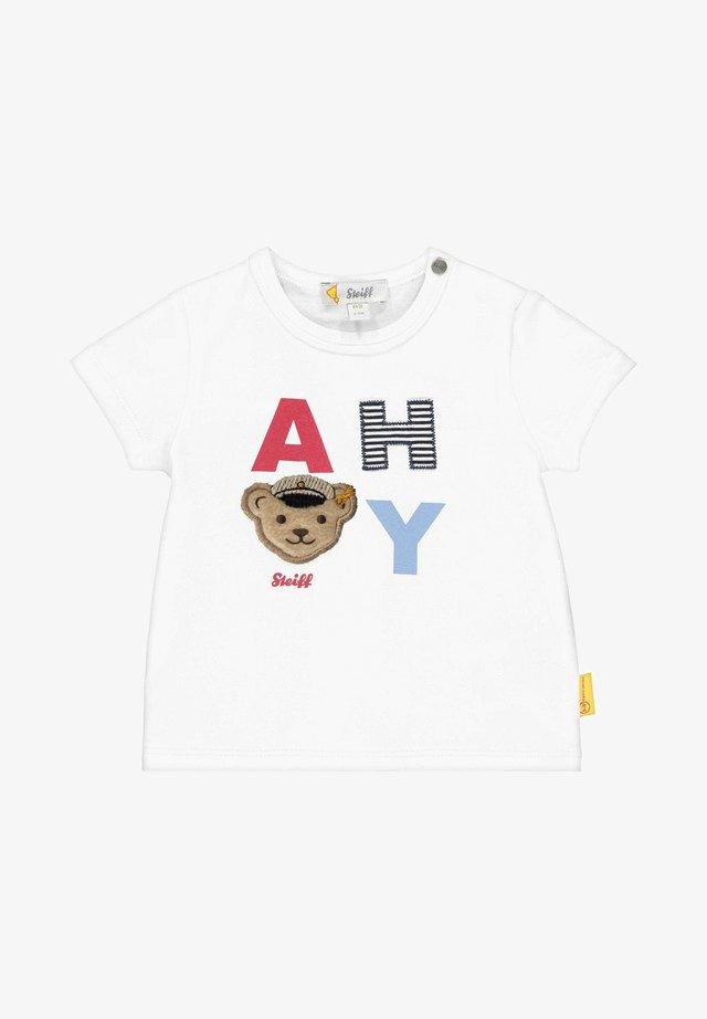 """MIT """"AHOI""""-SCHRIFTZUG - Print T-shirt - bright white"""