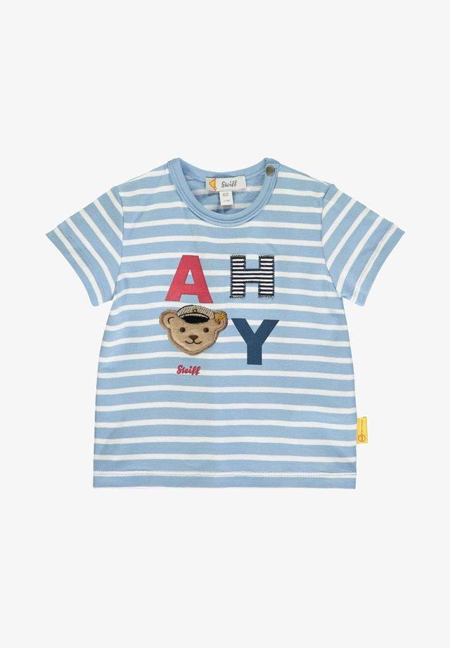 "MIT ""AHOI""-SCHRIFTZUG - T-shirt imprimé - forever blue"