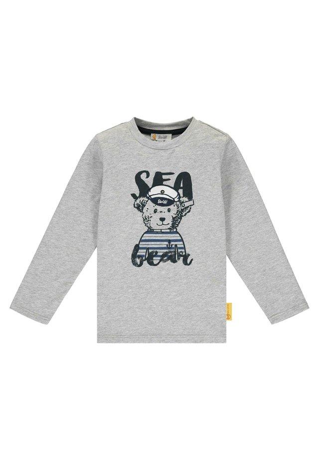 STEIFF COLLECTION T-SHIRT LANGARM MIT TEDDYBÄR-KAPITÄN - T-shirt à manches longues - quarry