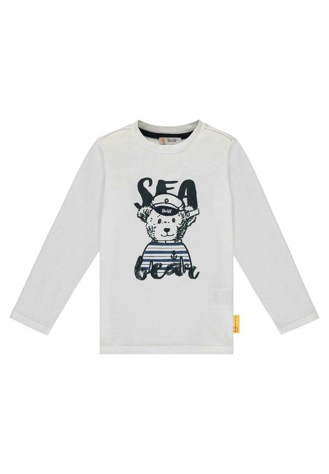 STEIFF COLLECTION T-SHIRT LANGARM MIT TEDDYBÄR-KAPITÄN - Long sleeved top - bright white