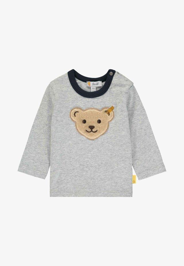 STEIFF COLLECTION T-SHIRT LANGARM MIT TEDDYBÄRMOTIV - T-shirt à manches longues - soft grey melange