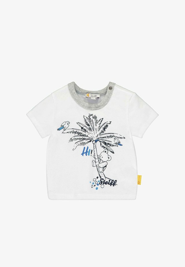 STEIFF COLLECTION T-SHIRT MIT SÜSSEM PRINT - T-Shirt print - bright white