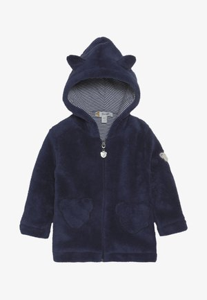 FLUFFY HOODY WITH EARS BABY - Mikina na zip - blue