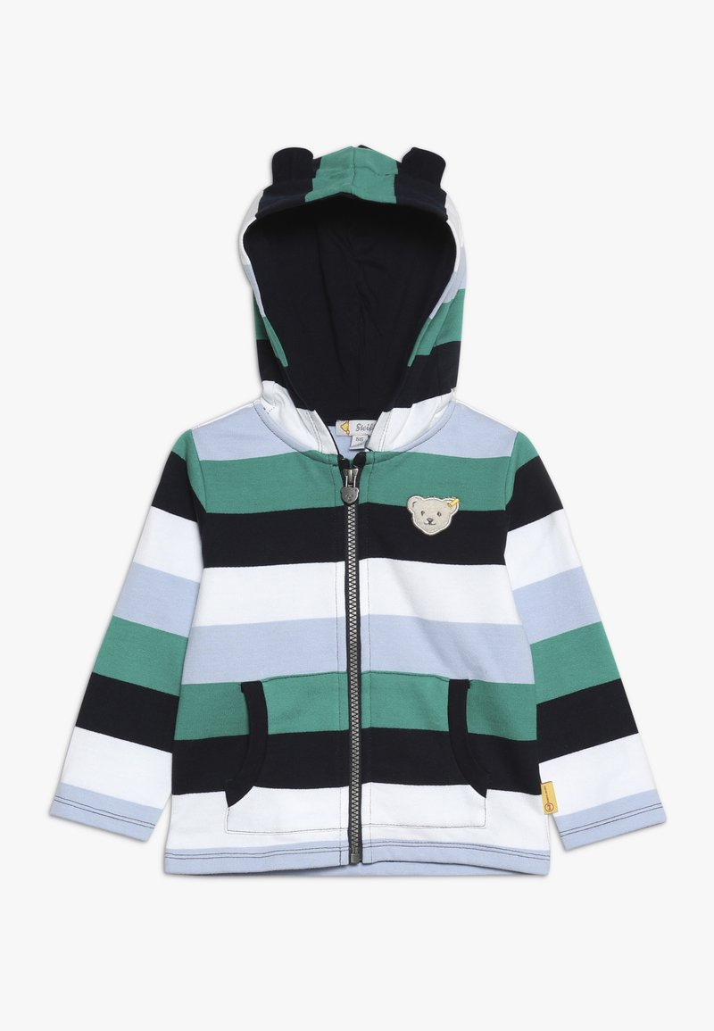 Steiff Collection - STRIPE HOODY BABY - veste en sweat zippée - navy