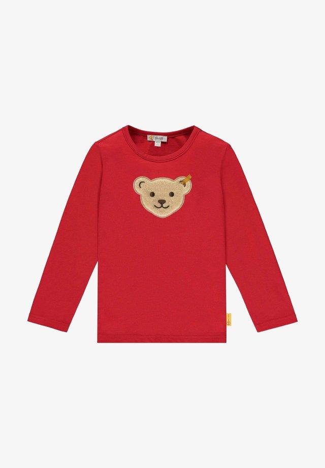 MIT LUSTIGEM QUITSCHER - Sweater - tango red