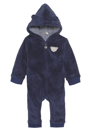 FLUFFY BEAR EARS ONEPIECE BABY - Overal - blue