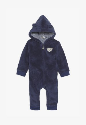 FLUFFY BEAR EARS ONEPIECE BABY - Jumpsuit - blue