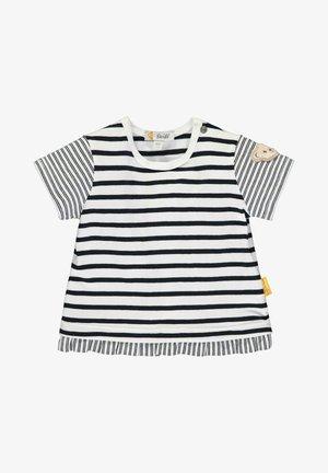 STEIFF COLLECTION T-SHIRT MIT VERSPIELTEM RÜSCHENABSCHLUSS - T-shirt imprimé - black