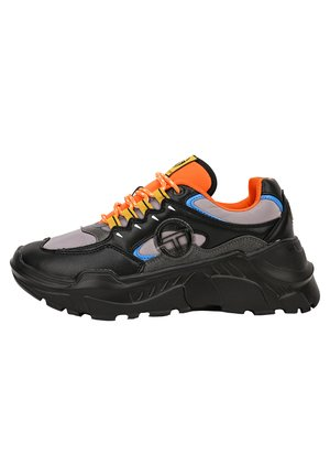 SNEAKER WOXED MIX - Baskets basses - black