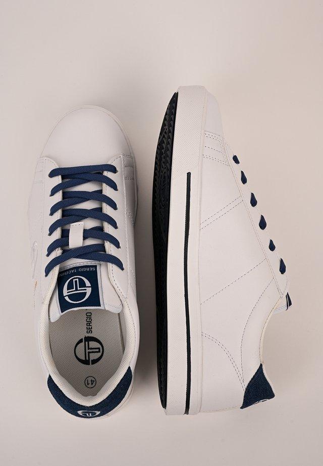 SNEAKER NOW LOW - Sneaker low - white/blue denim
