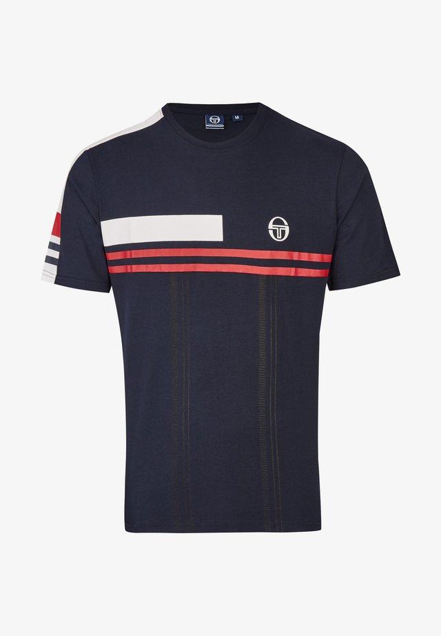 MIT STREIFEN - Print T-shirt - dark blue