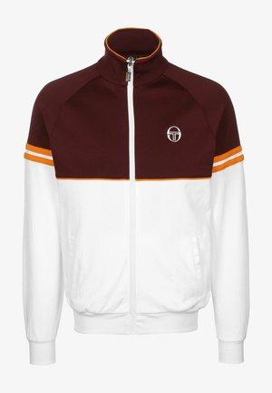 ORION - Training jacket - 148 white/bordeaux