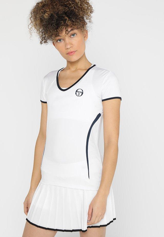 EVA  - Funkční triko - white/navy