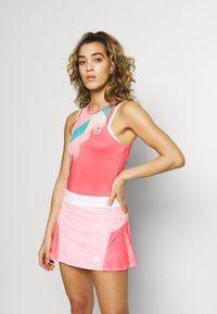sergio tacchini - TANGRAM TANK TOP - Sports shirt - coral pink/multicolor - 0