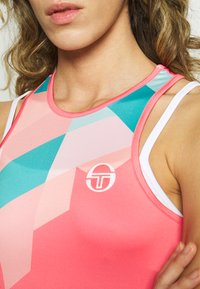 sergio tacchini - TANGRAM TANK TOP - Sports shirt - coral pink/multicolor - 4