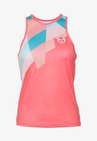 sergio tacchini - TANGRAM TANK TOP - Sports shirt - coral pink/multicolor - 3
