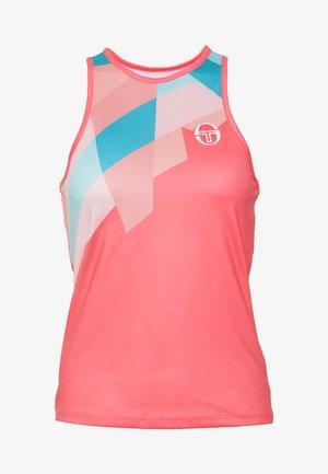 TANGRAM TANK TOP - Sports shirt - coral pink/multicolor