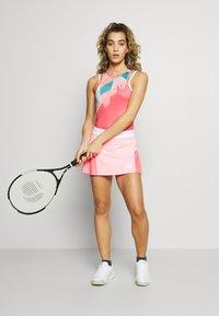 sergio tacchini - TANGRAM TANK TOP - Sports shirt - coral pink/multicolor - 1