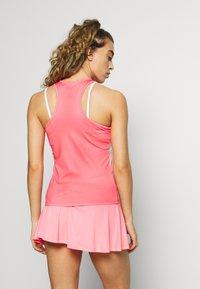 sergio tacchini - TANGRAM TANK TOP - Sports shirt - coral pink/multicolor - 2
