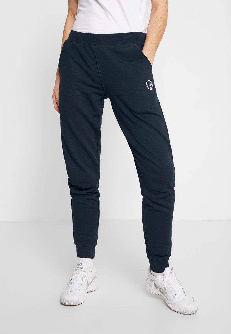 sergio tacchini - NEW ELLA PANTS - Pantalon de survêtement - navy/white
