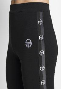 sergio tacchini - FIAMMA LEGGINGS - Tights - black/white - 4