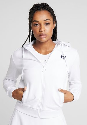 NEW ELLA  - Zip-up hoodie - white/navy