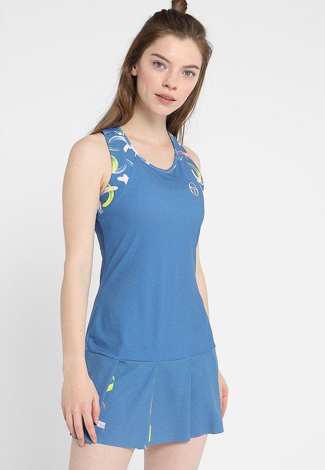 ABSTRACT DRESS - Sukienka sportowa - federal blue/white