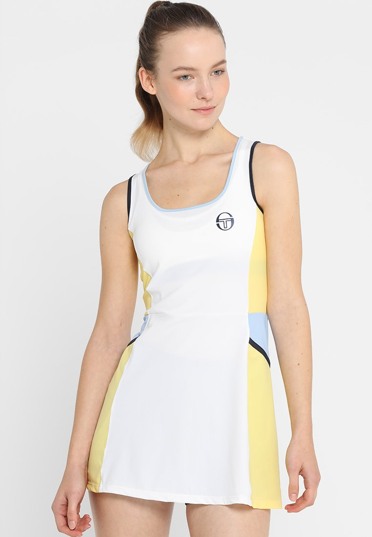sergio tacchini - GRACE DRESS - Sukienka sportowa - white/light yellow