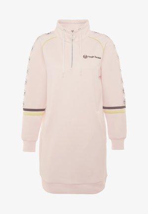 DAISY TRACK DRESS - Jerseyjurk - pink cream/black