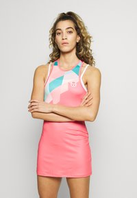 sergio tacchini - TANGRAM DRESS - Sportklänning - coral pink/multicolor - 0