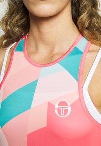 sergio tacchini - TANGRAM DRESS - Sportklänning - coral pink/multicolor - 5