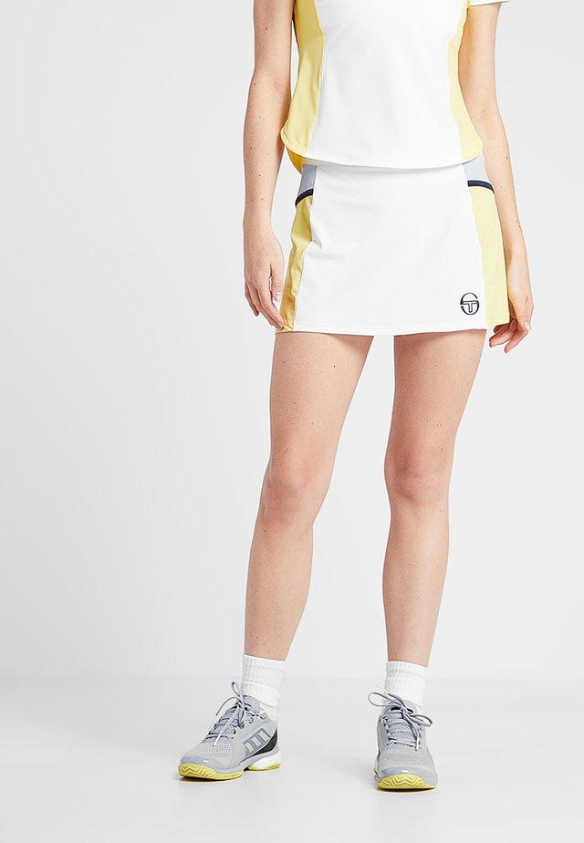 GRACE SKORT - Spódnica sportowa - white/light yellow