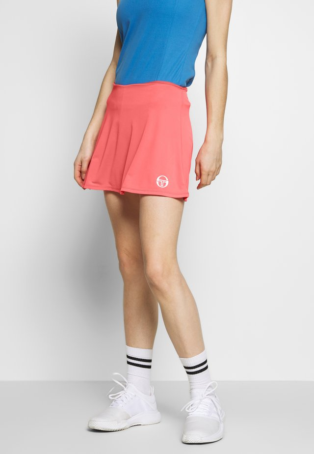 TANGRAM SKORT - Sports skirt - coral pink/white