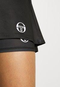 sergio tacchini - TANGRAM SKORT - Sportovní sukně - black/white - 4