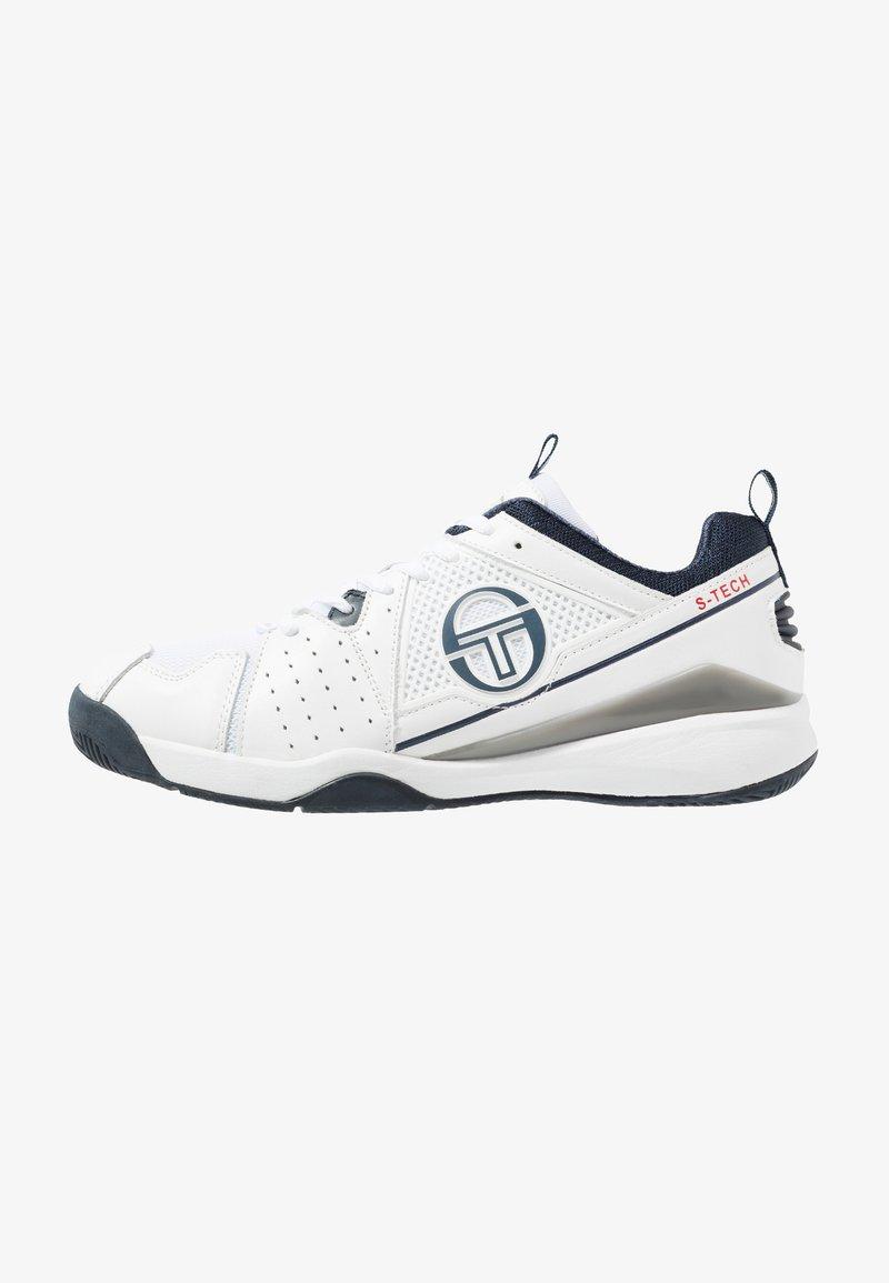 sergio tacchini - MONTE CARLO - Buty tenisowe uniwersalne - white/navy