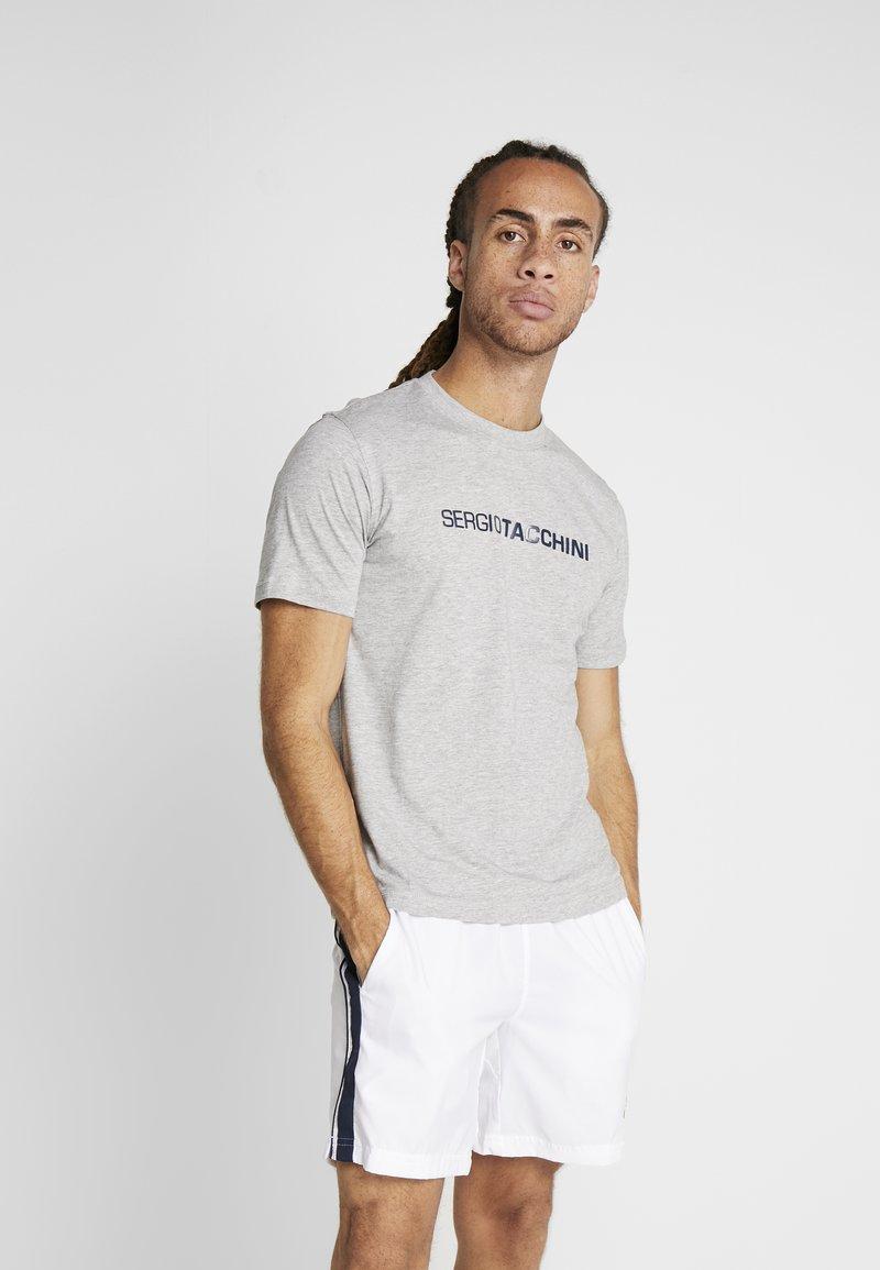 sergio tacchini - ROBIN - T-shirt imprimé - grey melange/navy