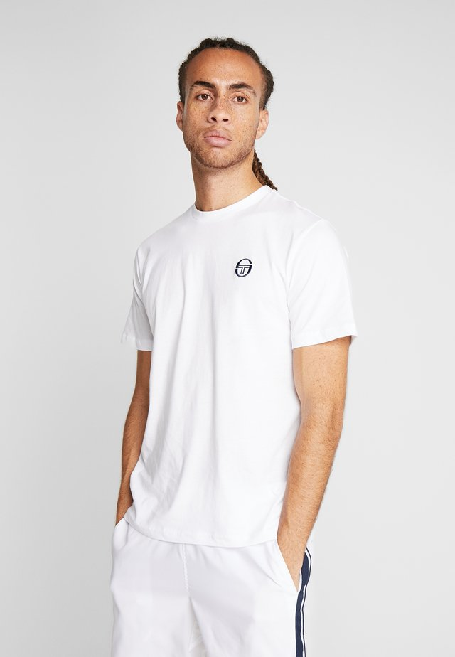SERGIO - Jednoduché triko - white/navy