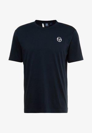 SERGIO - T-shirt basic - navy/white