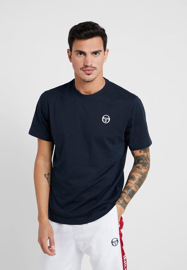 SERGIO - Basic T-shirt - navy/white