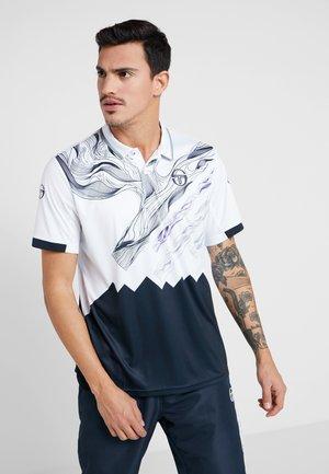 LIQUIFY  - T-shirt de sport - white/navy/deep blue